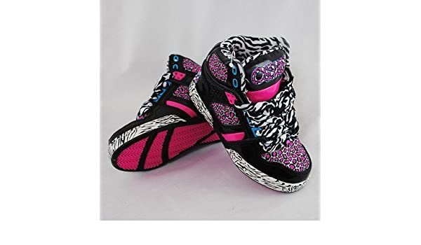 acdd2388c0 OSIRIS NYC 83 KIDS BLACK PINK LEOPARD GIRLS HI TOPS TRAINERS UK2.5   Amazon.co.uk  Shoes   Bags