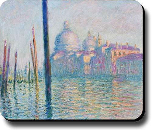 Mauspad/Mauspad, Motiv: Monet Le Grand Canal Venedig (25 x 19,1 x 0,8 cm), dick, rutschfeste Unterseite