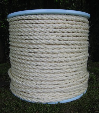 Sisalseil Durchmesser 6 mm 100 Meter Sisal-Seil auf Scheibenspule