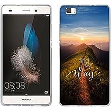 Funda Ascend P8 Lite, Fubaoda [percorso picco] Carcasa [Ultra Hybrid] Tecnología de amortiguación de aire y protección híbrida contra caídas para Huawei Ascend P8 Lite