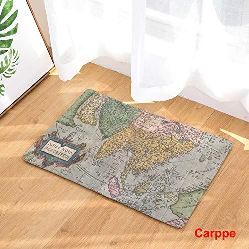 Mengjie tappeti bagno antiscivolo tappetini da bagno tappeti assorbenti per doccia microfiber lavabile in lavatrice mappa,50 * 80cm