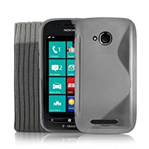Nokia Lumia 710 Clear Gel Silicone Case Cover + Screen Protector & Protective Sock By Kolay®