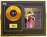 Everythingcollectible Celine Dion/Mini Metal Gold Disc & Photo Display/ÉDITION LIMITÉE/COA/ Let's Talk About Love