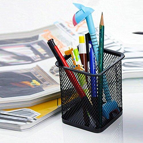 Winkey Make-up Pinsel Vase Pinsel Pot Stifthalter Stationery Aufbewahrung Height:9.5cm schwarz