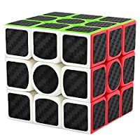 Speed Cube 3x3 Puzzle Magic Cubes Carbon Fiber Sticker Toy (3x3cube)