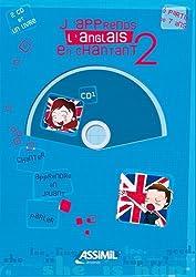 J'apprends l'anglais en chantant - niveau 2 ; Album + 2 CD Audio