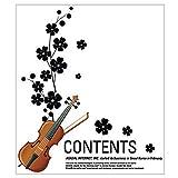 Schlafzimmer Accent DIY Selbstklebende Geige Braun Wandtattoo 65 x 75 cm, Schwarz