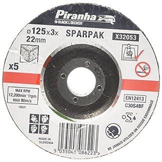 Black and Decker Sparpak X32053-QZ – Disco de corte para piedra, 125 x 3 x 22 mm