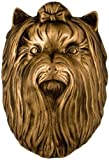Yorkshire Terrier Dog Knocker - Bronze by Michael Healy Designs