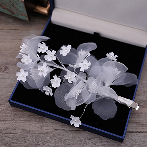 KHSKX-Koreanische Braut Spitzen Kopfschmuck Haarnadel Haar Haarspange Hair - Metal - Typ Rosette Haar Ornamente Hochzeitskleid Zubehör Süß -