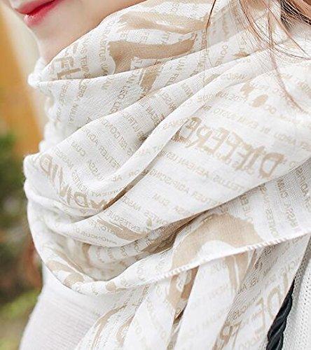 Beatayang Foulard Echarpe pour Femme Foulards Minces Coton Printemps Eté Automne Couleur1