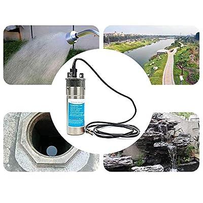InLoveArts Pompe Submersible en Acier Inoxydable, Pompe à Eau Solaire pour Pompes de Fontaine, bassins, Aquariums