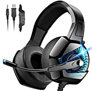 ONIKUMA Stereo Gaming Headset for PC, PS4, Xbox One, Noise Cancelling Headphones for Mac, Laptop, Nintendo Swi