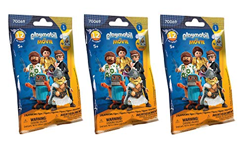 Outletdelocio. Conjunto 3 Sobres Playmobil The Movie
