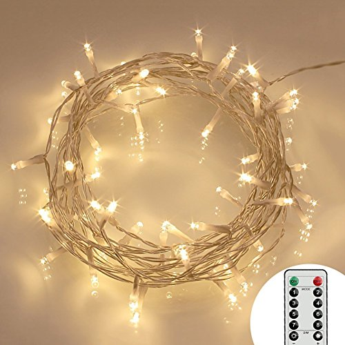40 LED Fairy Lights Battery Operated [Remote & Timer]