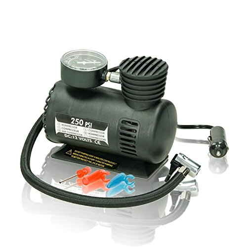 ECD Germany Mini-Kompressor 12V 250 PSI Mini Luftpumpe Auto Luftkompressor Kompressor