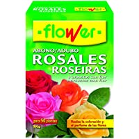 Flower 10520 10520-Abono Rosales, 1 kg, No Aplica, 7x18x25.5 cm