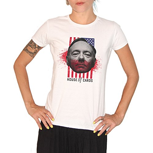 T-shirt House of Cards Kevin Spacey – by Brain Factory blanc