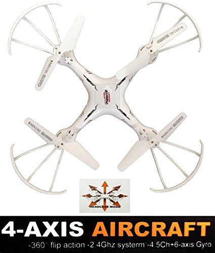 Jack Royal Toy Drone Quadcopter With 2.4G Rc Helicopter Toy Without Camera - White