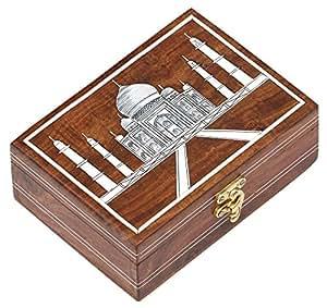 SouvNear Taj Mahal Box - [20 x 14 cm] Wooden Storage Box - Handmade Jewellery Box / Decorative Box / Treasure Chest / Keepsake Box for Women and Men from India -Symbol of Love by SouvNear