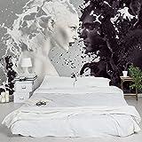 Vliestapete, hochwertige Fototapete, XXL-Wandbild im Querformat, Wandschmuck in 3D-Optik, für Schlafzimmer, Wohnzimmer, Maße (H x B): 190cm x 288cm, Motiv:Milch und Kaffee