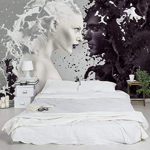 Vliestapete – Top Bestseller – Wandbild Landschaft Format Tapete Wand Wandbild xxl Foto Funktion 3D Tapete wall-art Tapete Wandmalereien Schlafzimmer Wohnzimmer, Dimension H: 255 cm x 384 cm; Motiv: Milk & Coffee