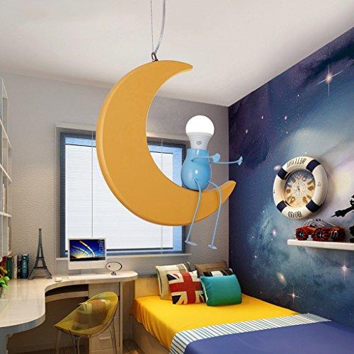 Kronleuchter zu Hause personalisierte Kronleuchte Kinderzimmer-Leuchter kreative Persönlichkeit Cartoon Mond Jungen und Mädchen Baby-Raum-Licht-Lampen