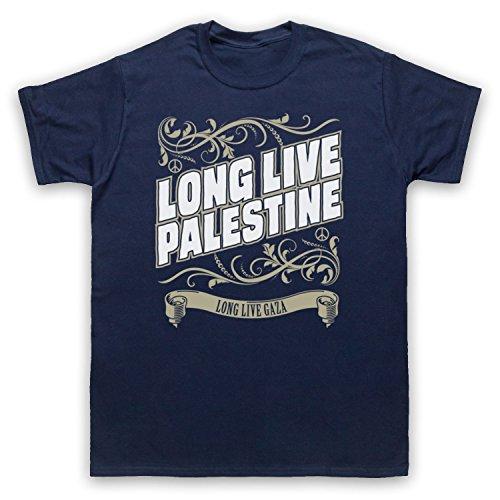 Long Live Palestine Long Live Gaza Herren T-Shirt Ultramarinblau