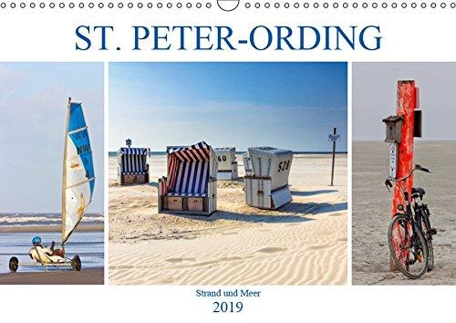 ST. PETER ORDING Strand und Meer (Wandkalender 2019 DIN A3 quer)