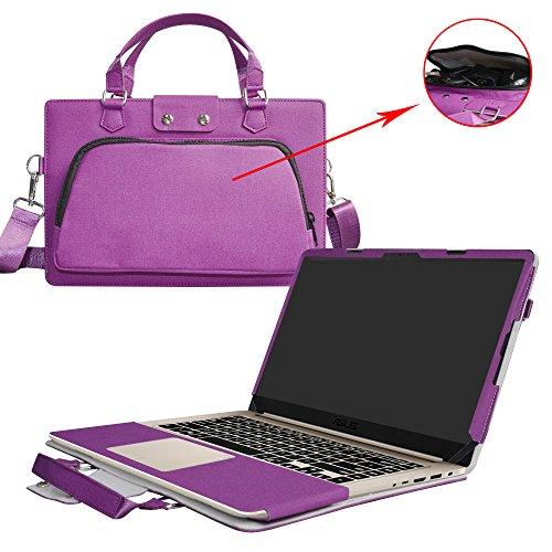 ASUS S15 S510UA S510UQ Hülle,2 in 1 Spezielles Design eine PU Leder Schutzhülle + Portable Laptoptasche für 15.6