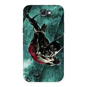 Enticing Future Knight Multicolor Back Case Cover for Galaxy Note 2