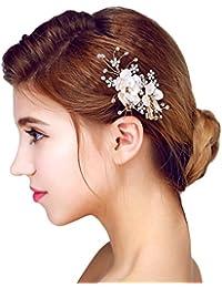 YAZILIND tocado belleza de la mujer nupcial de la boda clip de pelo pasador partido rhinestones aleaci¨®n de flores de pelo accesorios de gran tama?o