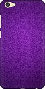 AMEZ designer printed 3d premium high quality back case cover for Vivo X7 Plus (violet swirls )