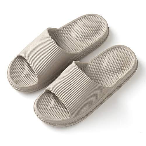 G-taste pantofole da bagno primavera estate pantofole da interno e da esterno sandali da bagno antiscivolo (40-41 eu, grigio-2)