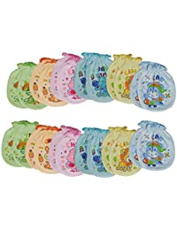 Aarushi Boys Cotton Mittens (Multicolour, 3 - 6 Months) - Pack of 12