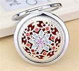 Visic Slim e Leggero Mini Round Hollow Flower Pattern Piccoli specchi di vetro Cerchi per l'artigianato Decorazione Accessorio cosmetico Colore argento