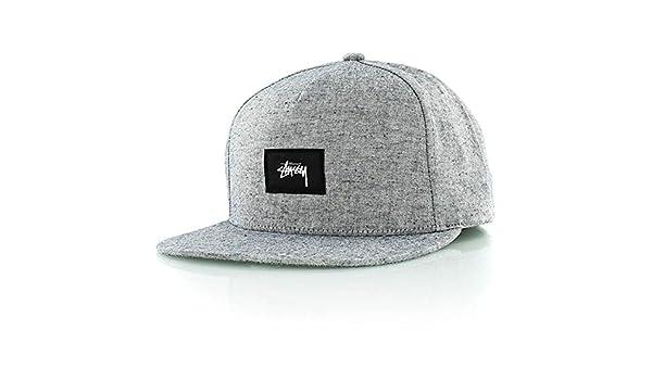 Stussy Speckled Snapback Cap Grey Melange  Amazon.co.uk  Clothing 95c2bf1ebc7