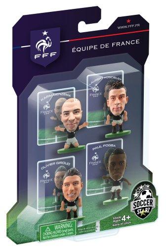 SOCCERSTARZ, Statuette con Elementi della Nazionale Francese, rappresentanti Benzema, Giroud, Koscielny And Pogba