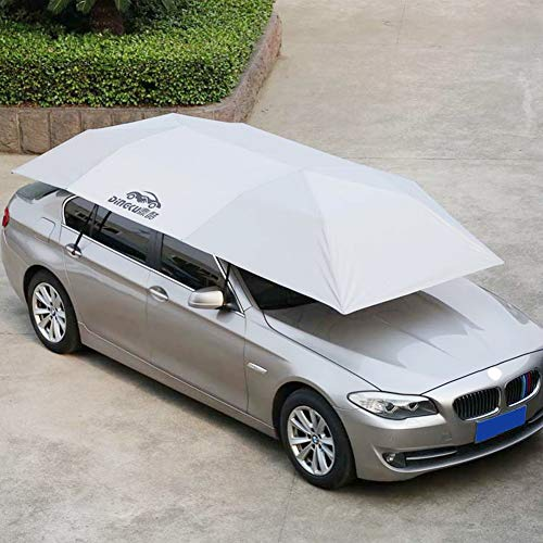 Cover Von Umbrella (Matedepreso Car Cover Markise Winddicht Sonnenschutz Auto Canopy Cover Umbrella(L,Helles Silber))