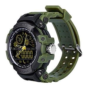 Chenang DX16 Sport Fitnessarmband, Bluetooth-Uhr, Intelligent Fitness Tracker Uhr Wasserdicht IP67 Smart Watch ABS Fitness Uhr Unisex Pulsuhren Schlafmonitor Schrittzähler