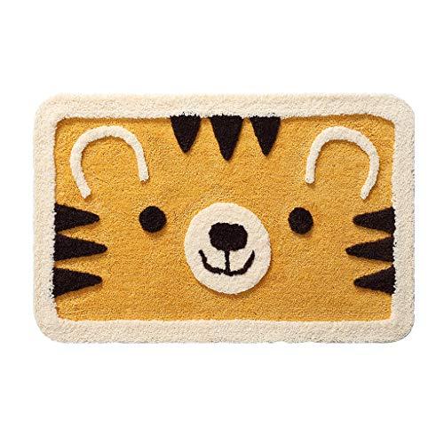 Tigre Amarillo Bienvenido Mat Puerta baño Absorbente