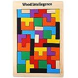 IDA Intelligence Bois Puzzle, Éducatif, Montessori, Forme l'imagination,Coordination œil-Main,Intelligence, Reconnaissance des Formes,Couleurs,Super Prix 2019
