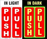#6: SignageShop Glow in Dark PUSH PULL sticker set Sign (Pack of 40 sets)