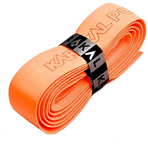 Karakal PU Supergrip replacement racquet grip - tennis / badminton / squash - fluorescent orange x 1 by Karakal