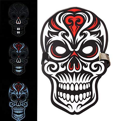 Sound Reactive LED Halloween Masken Musik Sprachsteuerung / -