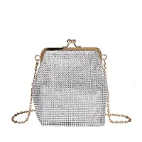 Womens Handbags,Small Bag Female Diamond Studded Handbags Fashion Chain Shoulder Messenger Bag Clips Handbags