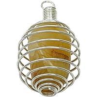 HarmonizeSpiral Caged Gelb Aventurine Steinanhänger Reiki Kristall Edelstein Spiritual preisvergleich bei billige-tabletten.eu
