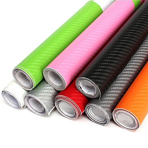 Jennifer 200x40cm fai da te involucro in vinile in fibra di carbonio pellicola adesiva a pellicola adesiva - rosso