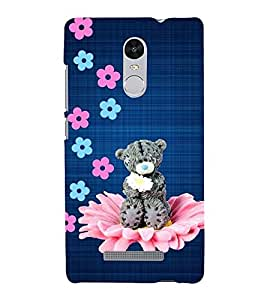 FUSON Cute Teddy Back Case Cover for Xiaomi Redmi Note 3