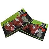 MACOSA NO88164 4er Set LED Teelicht Herz | Rot Glitzer | Hochzeits-Dekoration | inkl. Batterie | Warm-Weiß | LED Kerzen | Tisch-Deko | Romantik - 5